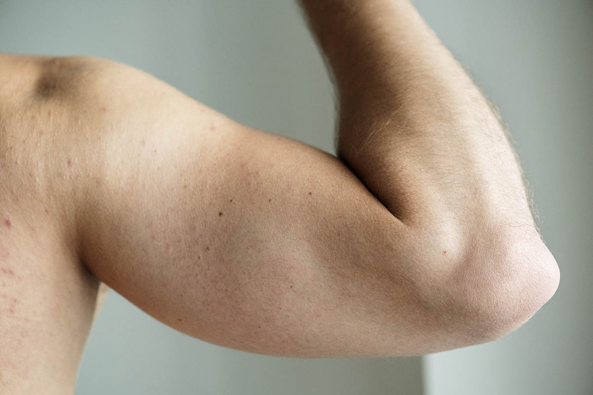 Closeup of an arm of a man